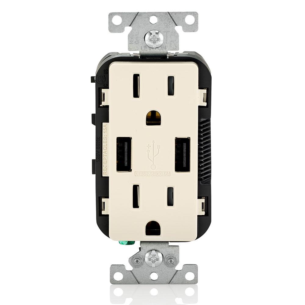 LEV T5632-T 5-15R USB COMBINATION R