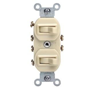 Duplex Style 3-Way / 3-Way Combination Switch, Ivory