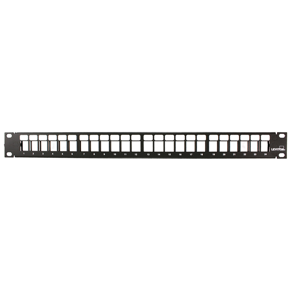 LEVITON 49255-H24 24-PORT HIGH DENSITY BLANK PATCH PANEL W/ CORD MANAGER BAR