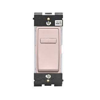 Leviton Renu® Coordinating Dimmer Remote RE00R-FP for 3-Way or More Applications, 120VAC, in Fresh Pink Lemonade