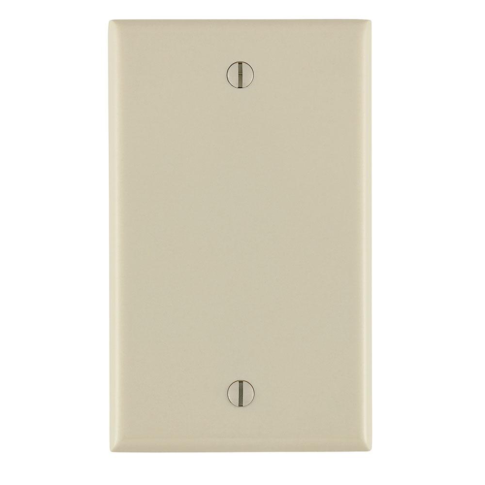 Leviton 78014 2.75 x 0.22 x 4.5 Inch 1-Gang Smooth Light Almond Thermoset Box Mount Standard Blank Wallplate