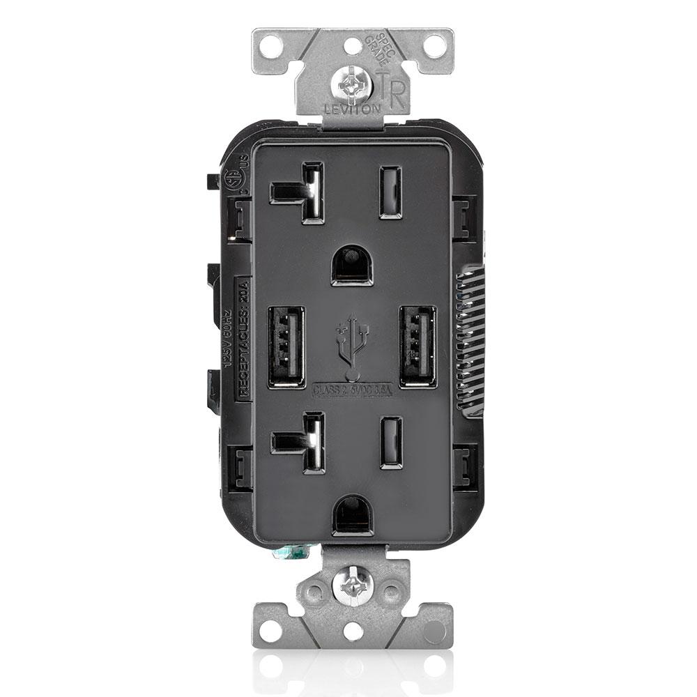LEV T5832-E 20A TR RECPT USB CHRG