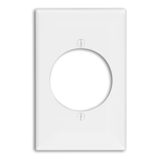 Leviton 80728-W 1-Gang Flush Mount 2.15 Inch Diameter Device Receptacle Midway Size White Wallplate