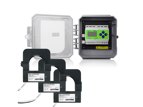 Outdoor Series 4000 Universal Voltage 3-phase 3W/4W Modbus Meter Kits 200A Split Core CTs Included in NEMA 4X Enclosure