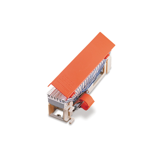 Connectorized Demarcation Block with female 50-pin connector, hinged cover and 89D mounting bracket included