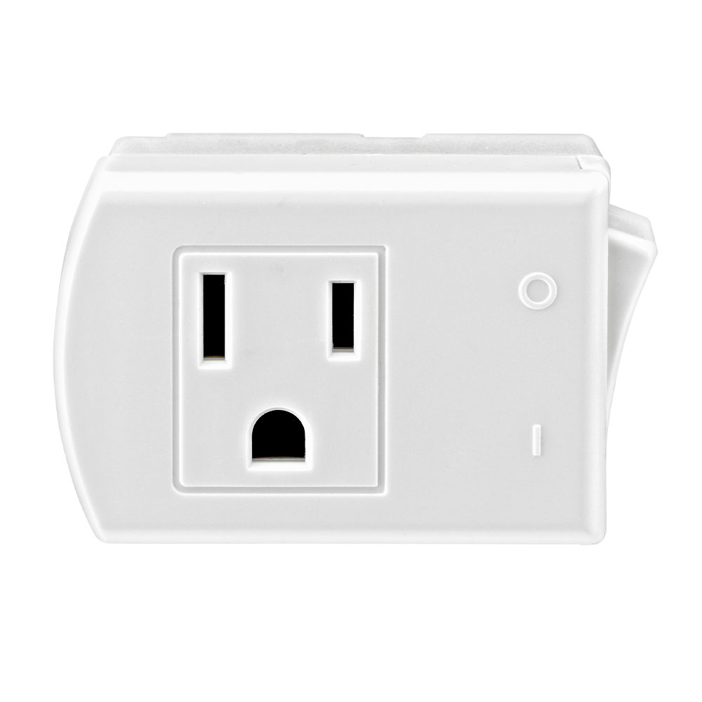 LEV 1470-W Grounded switch tap, Whi