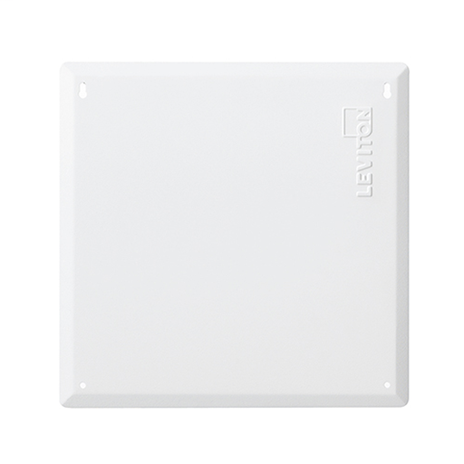 """14"""" Structured Media Flush Mount Cover, Metal, White"""