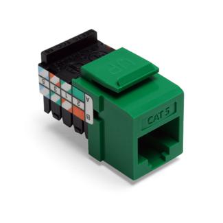 LEV 41108-RV5 JACK C5 8P8C GN