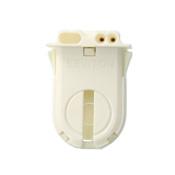 Fluorescent lampholder, medium bi-pin for T12/T8 lamps, 660W-600V, with internal shunt, less locator post, turn type, snap-in or slide-on.