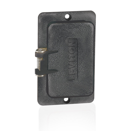 Coverplate, Standard, Single-Gang, Flip-Lid, Thermoplastic, Weather-Resistant,GFCI/decora® Receptacles - Black