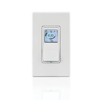 Leviton VPT24-1PZ 120 VAC 15 Amp 1800 W 1-Pole 3-Way White/Ivory/Light Almond Programmable Electronic Timer Switch