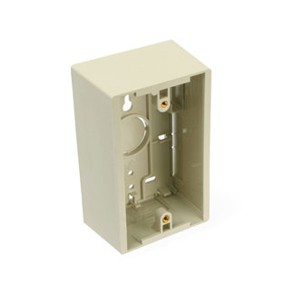 Leviton 42777-1IA 2.96 x 1.89 x 4.72 Inch 1-Gang Ivory Plastic Surface Mount Standard Back Box