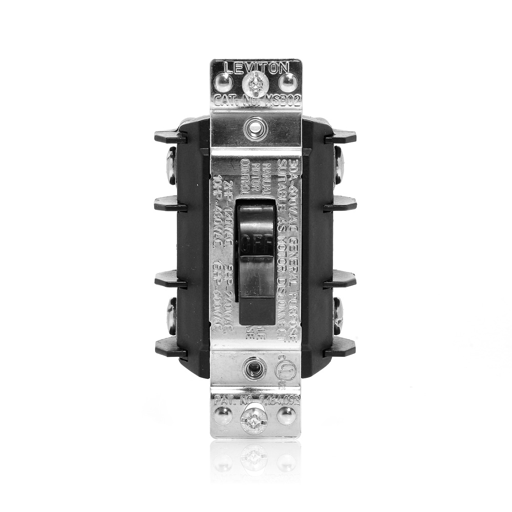 LEV MS302-DS 30A 600V DOUBLE POLE T