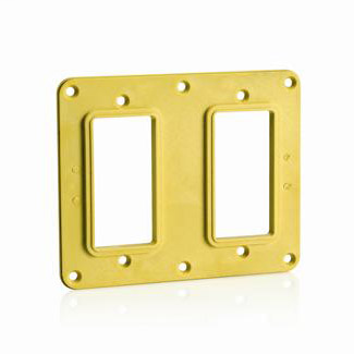 LEV 3251-Y 2G 2DECORA COVER PLATE