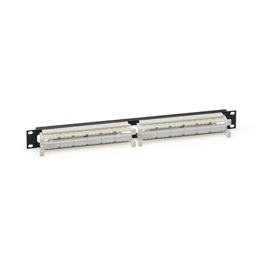 Cat 6 110-Style Rack-Mount Wiring Block Kit, includes 96-pair 1RU panel, labels, and 24 C-4 clips