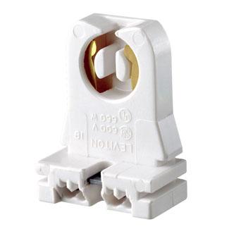 Leviton 13353-N 660 W White Thermoset Slide-On Medium Bi-Pin Standard Fluorescent Lampholder