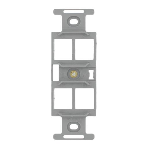 QuickPort Duplex Type 106 Insert, 4-Port, Grey