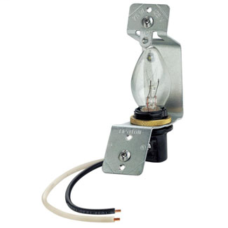 """Lampholder assembly, for use with jewels or louvre plates-use with standard 2.5"""" box and 4 watt bulb"""