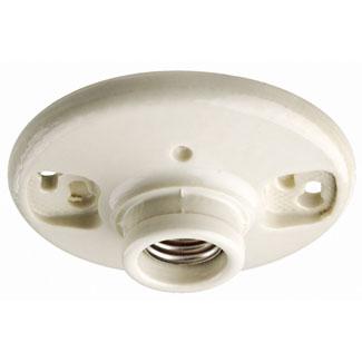 Leviton 49875 250 Volt 660 W White Glazed Porcelain Twist-Lock 1-Circuit Keyless Medium Incandescent Lampholder