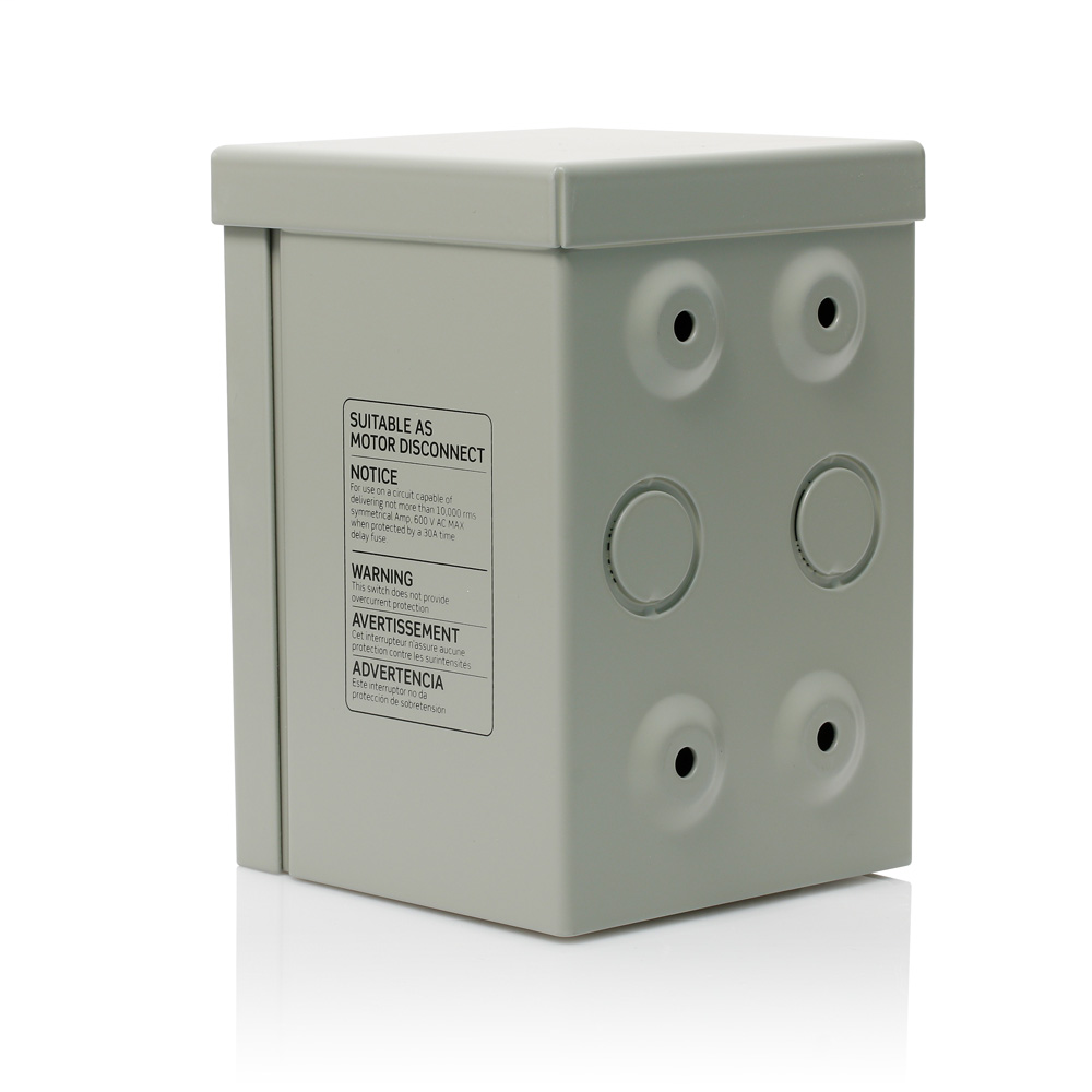 Type 3R Enclosure (for use with 30 Amp or 40 Amp Motor Starter Controllers), Steel - Gray