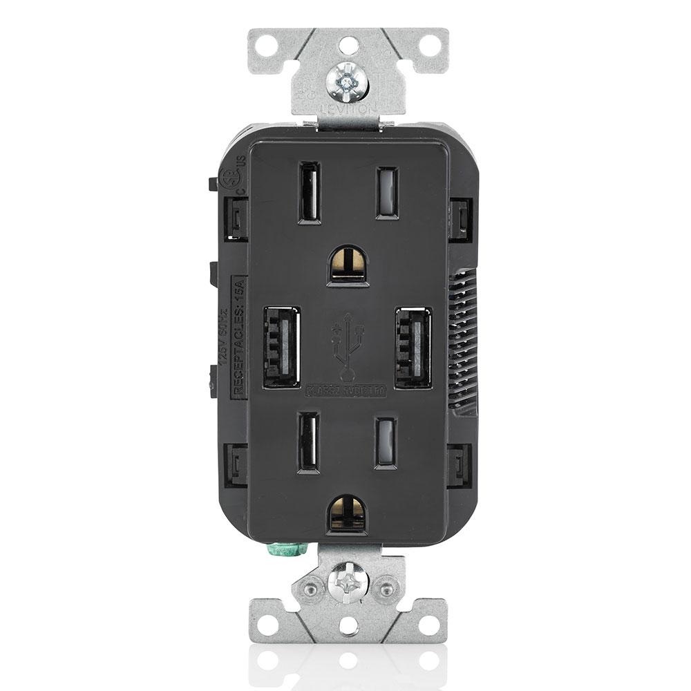 LEV T5632-E 5-15R USB COMBINATION R