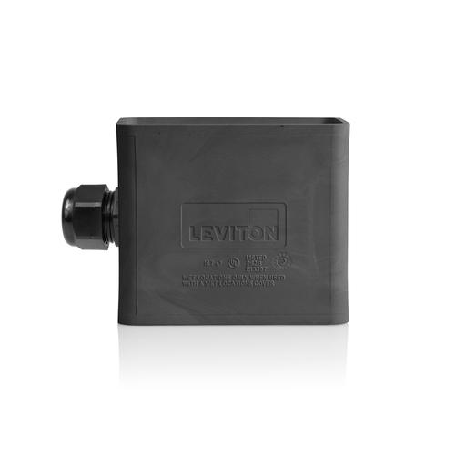 Single-Gang Portable Outlet Box, Standard Depth, Pendant Style, Black