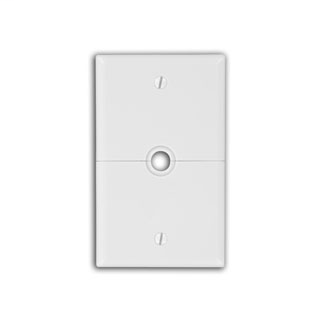 1-Gang .625 Inch Hole Device Telephone/Cable Wallplate, Sectional, Thermoplastic Nylon, Box Mount, Horizontal Split Plate - Ivory