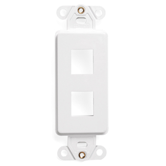 Leviton 41642-W 1.29 x 0.22 x 3.81 Inch 2-Port White Flush Mount Decorator Wallplate Insert