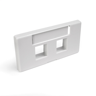 QuickPort Modular Furniture Faceplate, 2-Port, White