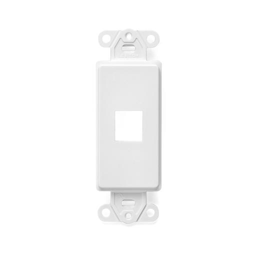 QuickPort Decora Insert, 1-Port, White