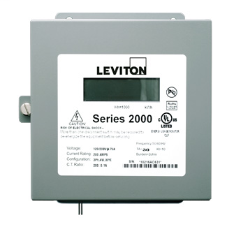 Three Element Meter, 120/240/208V, 3PH, 4W, Line-to-Line, 200:0.1A ratio, Max 200A, Indoor Surface Mount Enclosure. METER ONLY. Requires (3) 200A Current Transformers, Electric Meter: Yes, Title 24 compliant, ASHRAE 90.1 compliant