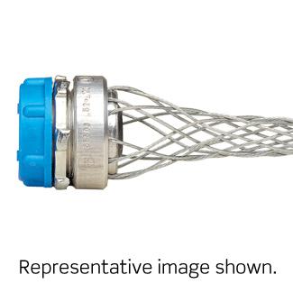 1/2 Inch, Straight, Male, Anodized Aluminum Body, Wide-Range Strain-Relief, .300 - .430 Cord Range