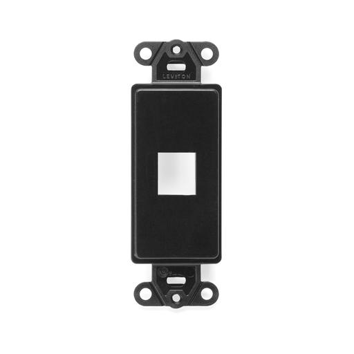 QuickPort Decora Insert, 1-Port, Black