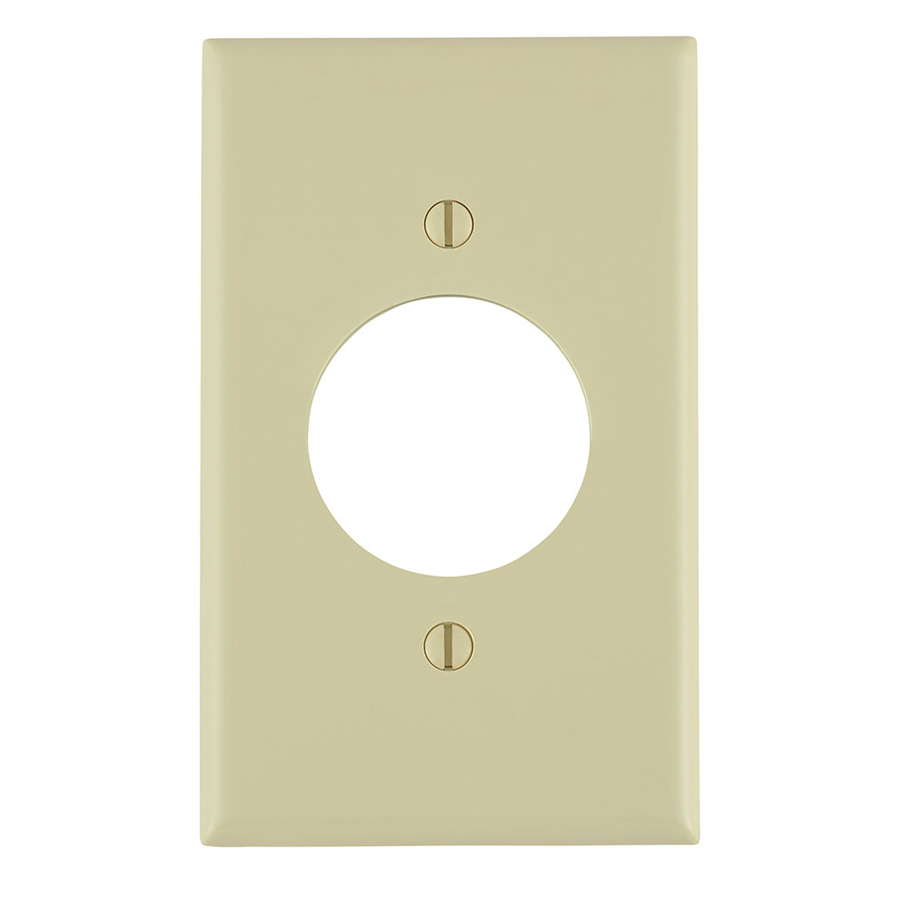 Leviton 80720-I 2.75 x 0.22 x 4.5 Inch 1-Gang Smooth Ivory Thermoplastic Nylon Device Mount Standard Receptacle Wallplate