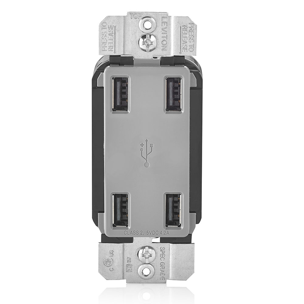 LEV USB4P-GY 4 PORT USB DEVICE GRAY