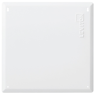 """14"""" Structured Media Flush Mount Cover, Metal, 6 Pack, White"""