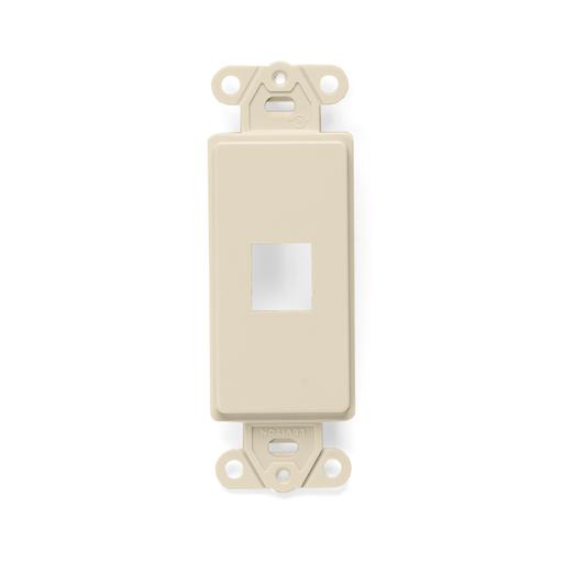 QuickPort Decora Insert, 1-Port, Ivory