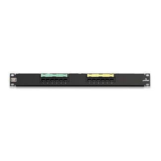 Leviton 69586-U12 Category 6 Black 14 Gauge Steel 1-Rack Unit Wall Mount Universal Patch Panel