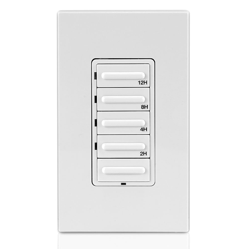Decora Preset Resistive/Inductive 12-Hour Countdown Timer, White, Ivory, Light Almond