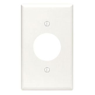 Leviton 88004 2.75 x 0.22 x 4.5 Inch 1-Gang Smooth White Thermoset Device Mount Standard Receptacle Wallplate