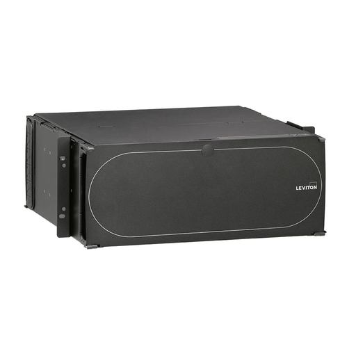 1000i SDX 4RU Distribution and Splice Enclosure, empty; Accepts up to (12) SDX adapter plates or (12) SDX MTP cassettes and accepts up to (12) splice trays. (Vertical adapter plate/cassette orientation).