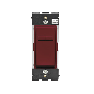 Leviton Renu® Coordinating Dimmer Remote RE00R-DG for 3-Way or More Applications, 120VAC, in Deep Garnet