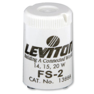 Leviton 13886 15 to 20 W FS-2 Fluorescent Starter