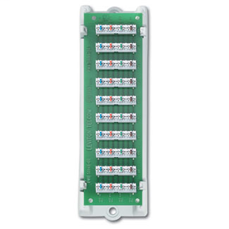 1x9 Bridged Telephone Module (expansion board with ABS bracket), includes 110 punch down tool