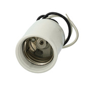 Leviton 8756-J 4 kV White Porcelain Mogul Incandescent Lampholder