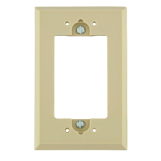 Shallow Wallbox extender for GFCI. Ivory