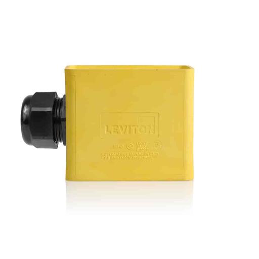 Single-Gang Portable Outlet Box, Standard Depth, Pendant Style, Yellow