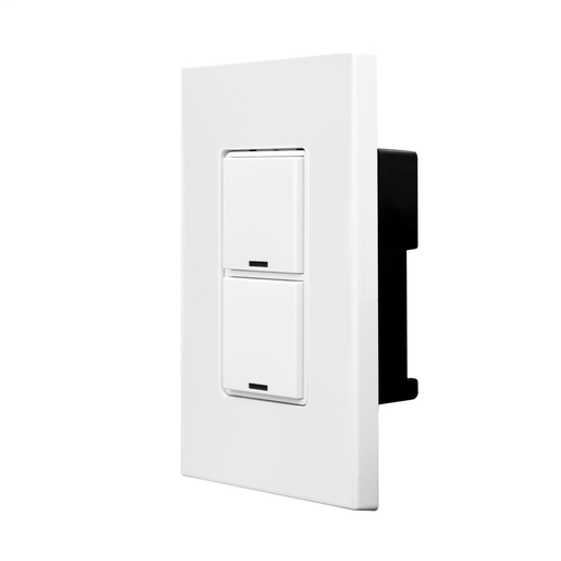 GreenMAX Digital Switch, Decora, 2 Button, LumaCAN2, Indoor, White, 1 Gang, Wallplate Included, Title 24 compliant, ASHRAE 90.1 compliant