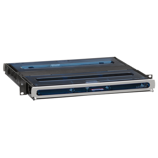 2000i SDX 1RU Fiber Enclosure, empty, with sliding tray; Accepts up to (3) SDX adapter plates and splice trays or (3) SDX MTP cassettes.