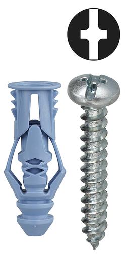 Item # TG10KTP, (TG10KTP) Blue Multi-Grip Hollow Wall Anchor Kit